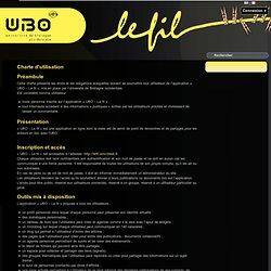 Le fil: Charte d'utilisation