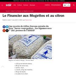 Le Financier aux Mogettes et au citron