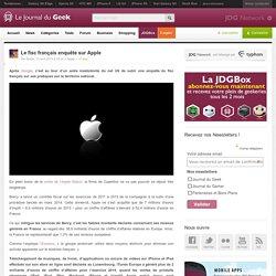 Le fisc français enquête sur Apple