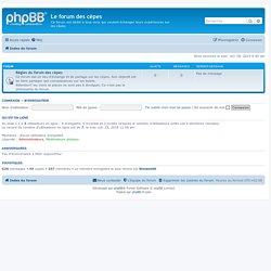Le forum des cèpes - Page d'index