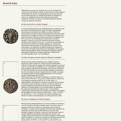 Le denier de Charlemagne, nouveau système monétaire [ressource]