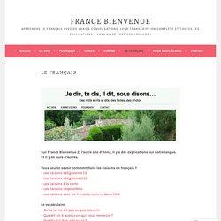 Le français – France Bienvenue