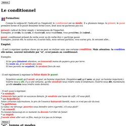 Le Français en ligne - Le conditionnel