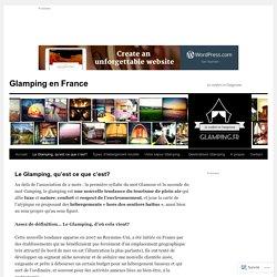 Glamping en France
