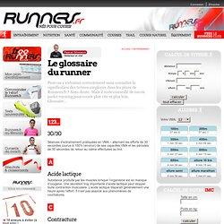 Le glossaire du runner
