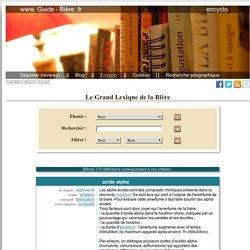 Le Grand Lexique de la bière - Guide-Biere.fr