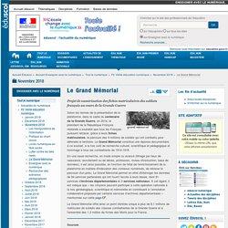 Le Grand Mémorial — Enseigner avec le numérique p