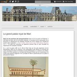 Le grand palais royal de Mari -