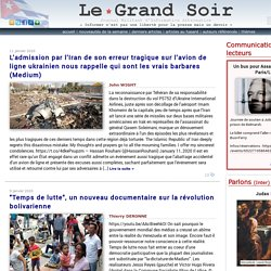 Le Grand Soir journal militant d'information alternative