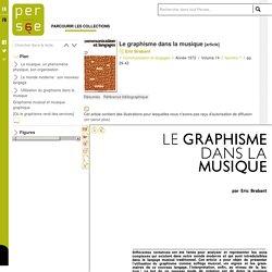 Le graphisme dans la musique