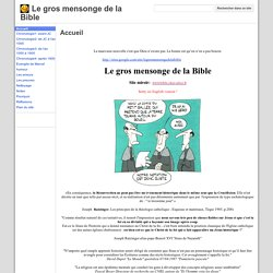 Le gros mensonge de la Bible