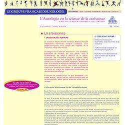 Le Groupe Français d'Auxologie