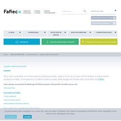"""FAFIEC Le guide complet """"les Essentiels"""""""