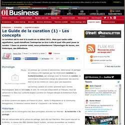 Guide Curation 1) - Les concepts
