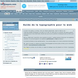 Le guide de la typographie pour le web