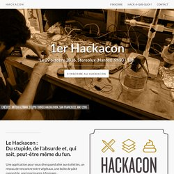 Le Hackacon - 29 octobre 2016