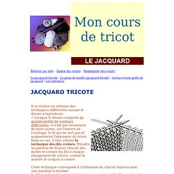 comment tricoter le point jacquard
