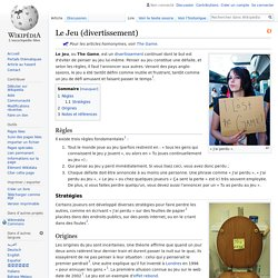 Le Jeu (divertissement)