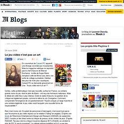 Le jeu vidéo n'est pas un art - Playtime - Blog LeMonde.fr