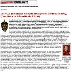KGB & services de sécurite de la CEI