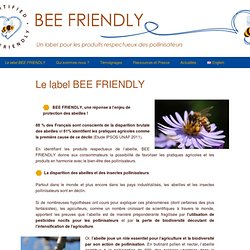 Le label BEE FRIENDLY