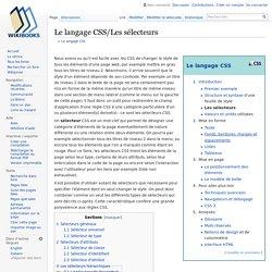 Le langage CSS/Les sélecteurs