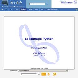 Le langage Python