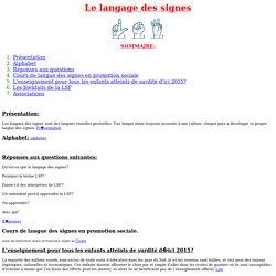 Le langage des signes