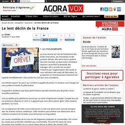Le lent déclin de la France