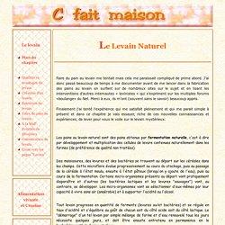 Le levain naturel - Introduction