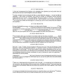 LE LIVRE DES SECRETS DE JEAN (NH II, 1; IV, 1)