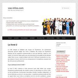 Le livret 2 sur vae-infos.com