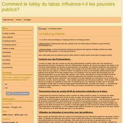 Le lobbying interne
