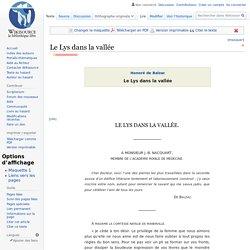 Balzac Le Lys dans la vallée 1836