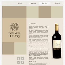Le Mailhol - Domaine Henry