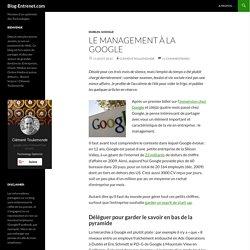 Le Management à la Google