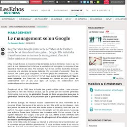 Le management selon Google