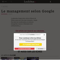 8. Le management selon Google