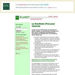 Le Manifeste IFLA pour Internet