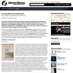 Le manifeste de Libération