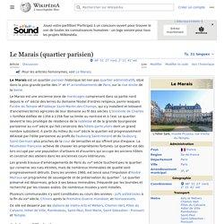 Le Marais (quartier parisien)