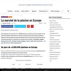 Le marché de la piscine en Europe
