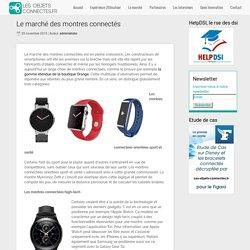 Le marché des montres connectés