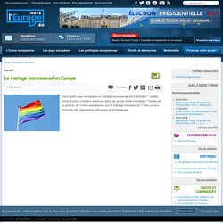 Le mariage homosexuel en Europe