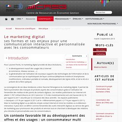 Le marketing digital - CREG - CREG - Centre de Ressources ...