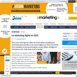 Le marketing digital en 2015