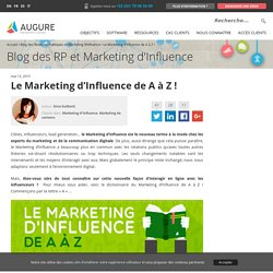 Le Marketing d'Influence de A à Z