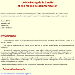Le Marketing de la lunette