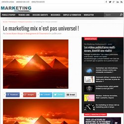 Le marketing mix n'est pas universel