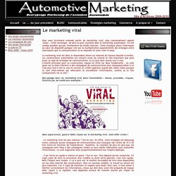 Le marketing viral - Automotive Marketing